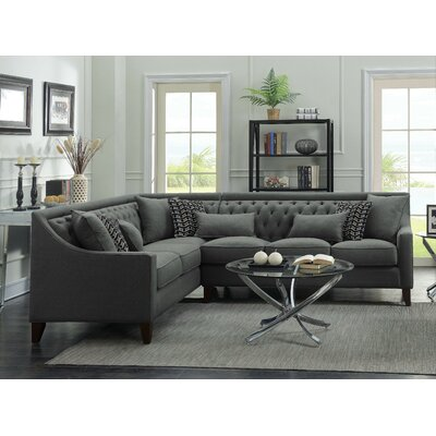 willa arlo interiors zivah solid lshaped sectional u0026 reviews wayfair