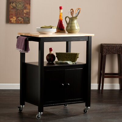 Alcott Hill Tiltonsville Kitchen Cart with Butch..