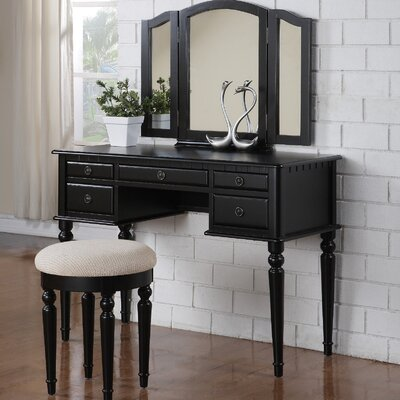 Alcott Hill GoodHope Vanity Set with Mirror