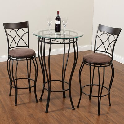Alcott Hill Wellington 3 Piece Pub Table Set