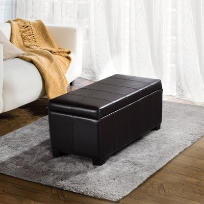 Alcott Hill Hampshire Leather Storage Ottoman