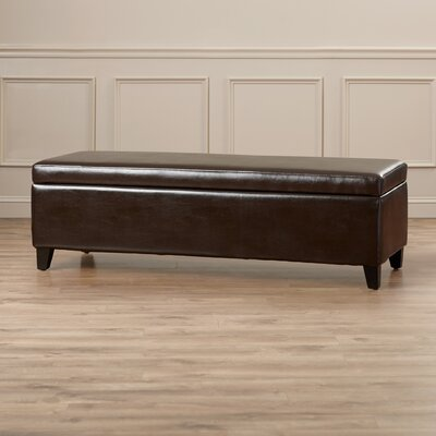 Alcott Hill Geffray Leather Storage Ottoman