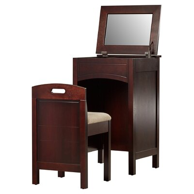 Alcott Hill Corvally Vanity Set with Mirror