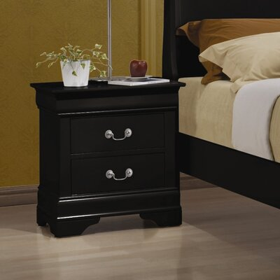 Alcott Hill Northampton 2 Drawer Nightstand