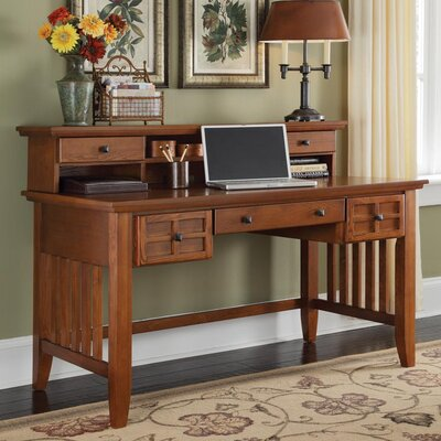 Alcott Hill Lakeview Computer Desk with Keyboard Tray and Hutch