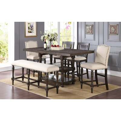 Alcott Hill Wilhelmina Counter Height Extendable Dining Table