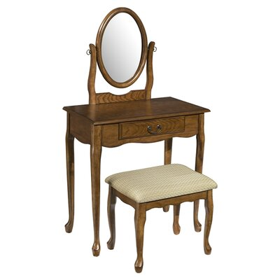 Alcott Hill Barwood Vanity Set with Mirror