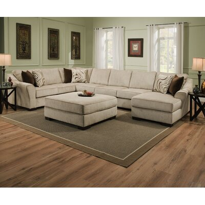 Alcott Hill Stoneridge Right Hand Facing Sectional by Simmons Upholstery