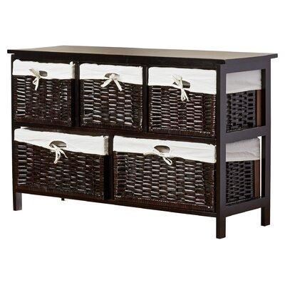 Alcott Hill Stellan Five Wicker Basket Storage Unit In Espresso U0026 Reviews |  Wayfair