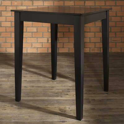 Charlton Home Delphi Tapered Leg Counter Height Pub Table