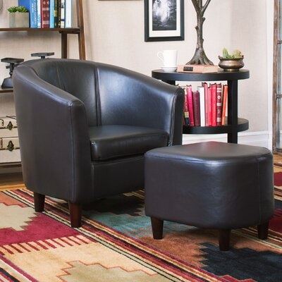 Charlton Home Calville Club Chair & Ottoman Set