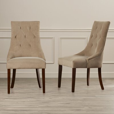 Loon Peak Castle Pines Button Tufted Side Chair (Set of 2)