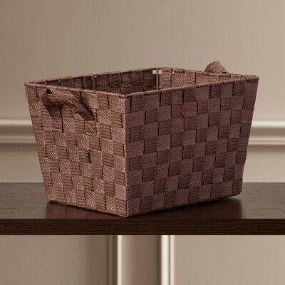 Charlton home small woven tote reviews wayfair for Storage charlton