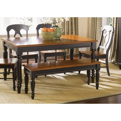 Charlton Home Oliver Wood Kitchen Bench