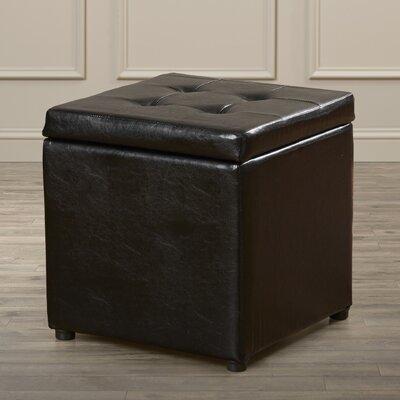 Charlton Home Donaldson Upholstered Storage Cube Ottoman