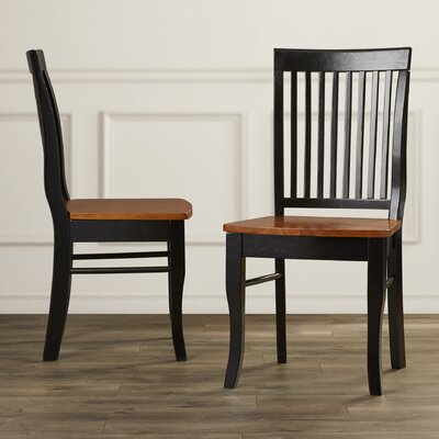 Charlton Home Carlock Slat Back Side Chair (Set of 2)