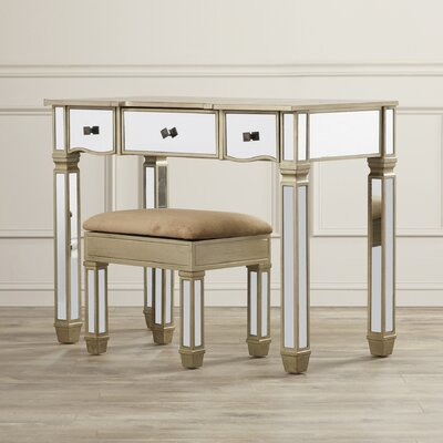 House of Hampton Vanity Set with Mirror