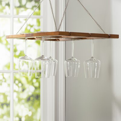 Charlton Home Benthey Hanging Wine Glass Rack
