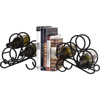 Charlton Home Speedway 2 Piece 6 Bottle Tabletop Wine Rack Set
