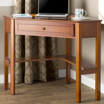 Charlton Home Millsbury 1 Drawer Corner Writing Desk