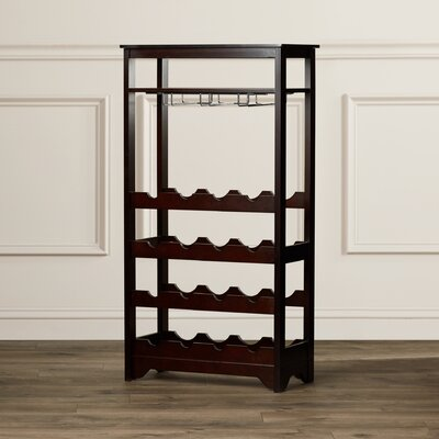 Charlton Home Barstaple 16 Bottle Floor Wine Rack
