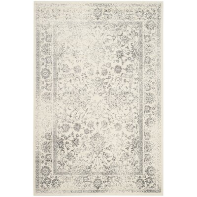 Charlton Home Reynolds Ivory/Silver Area Rug