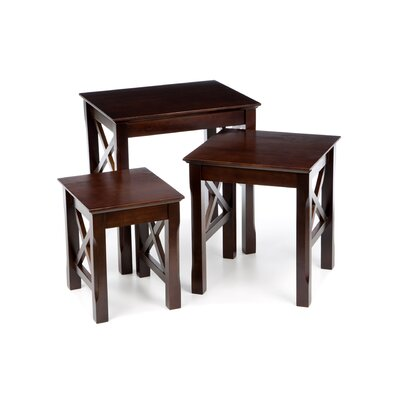 Charlton Home Toledo 3 Piece Nesting Tables