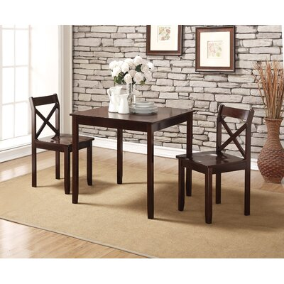 Charlton Home Flossmoor 3 Piece Dining Set
