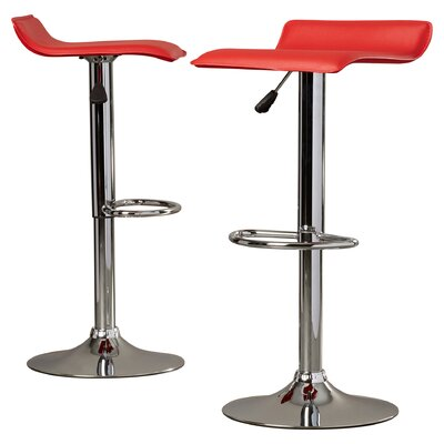Charlton Home Apple Valley Adjustable Height Swivel Bar Stool (Set of 2)