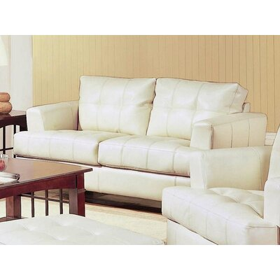 Varick Gallery  VKGL1665 Kedzie Leather Loveseat