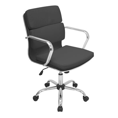Varick Gallery Kendall Mid-Back Leather Office Chair