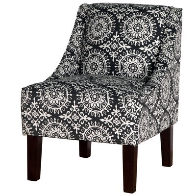 Varick Gallery Printed Swoop Arm Chair