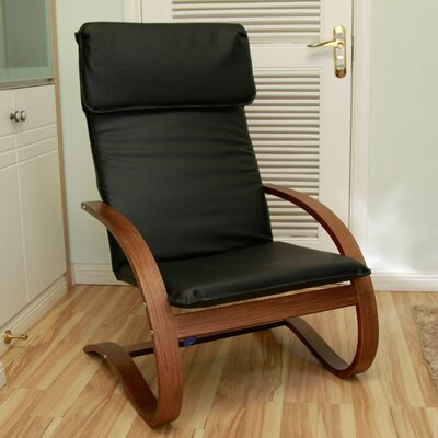 Varick Gallery Argueta Faux Leather Lounge Chair