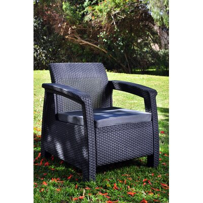 Mercury Row Berard All Weather Outdoor Armchair with Cushions