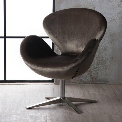 varick gallery broaddus velvet modern swivel armchair & reviews