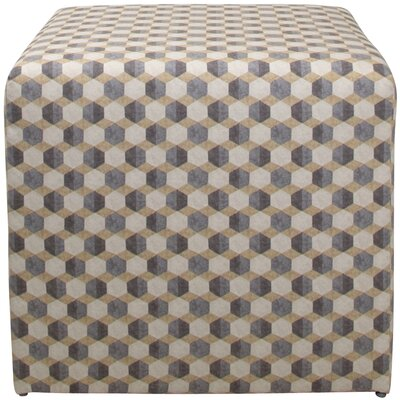 Brayden Studio Motsinger Tile Cube Ottoman