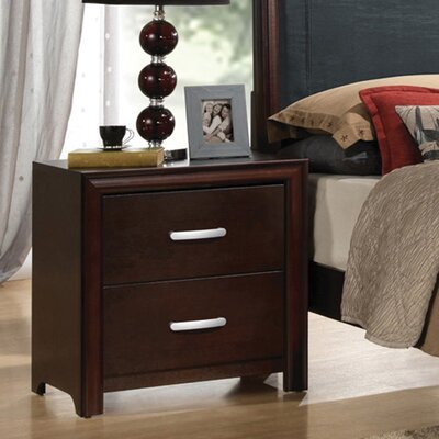 Brayden Studio Medellin 2 Drawer Nightstand