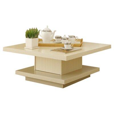 Elegant Brayden Studio Laroche Square Coffee Table in Coffee Bean