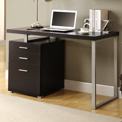 Brayden Studio Pascua Computer Desk with 3 Space Storage Drawers