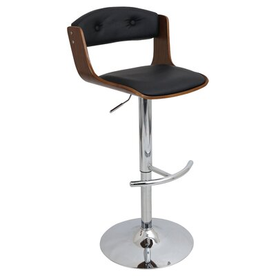 Brayden Studio Cusumano Adjustable Height Swivel Bar Stool