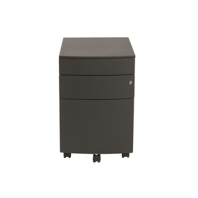 Brayden Studio Brook 3 Drawer Mobile Filing Cabinet