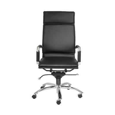 Brayden Studio Kalgoorlie Pro High-Back Leatherette Office Chair with Arms