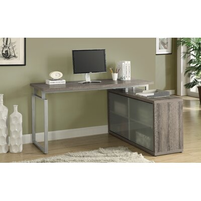 Brayden Studio Beaudry L Shaped Writing Desk Amp Reviews