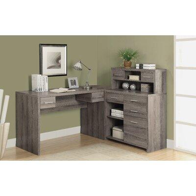 Brayden Studio Edmiston Corner Computer Desk With Hutch