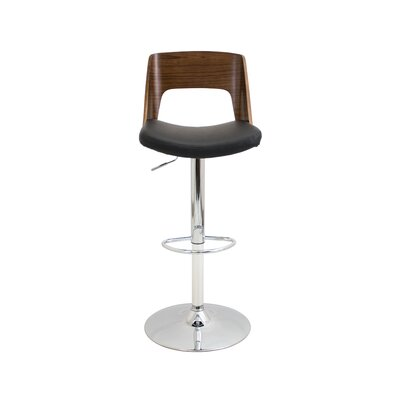 Brayden Studio Arechiga Adjustable Height Swivel Bar Stool