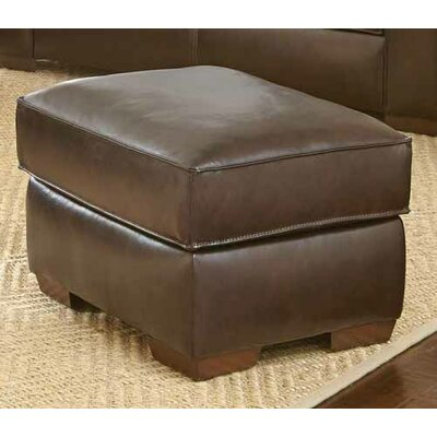 Brayden Studio Tennison Leather Ottoman