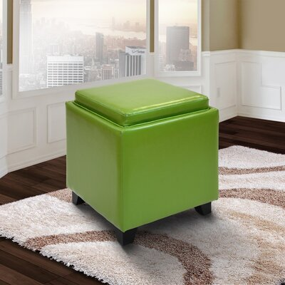Brayden Studio Carroll Storage Ottoman with Tray