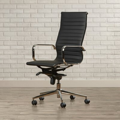 Brayden Studio Kingston High-Back Upholstered Faux Leather Executive Office Chair