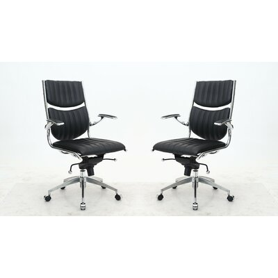 Brayden Studio High-Back Office Chair (Set of 2)