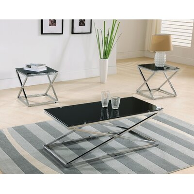 Brayden Studio Manske 3 Piece Coffee Table Set